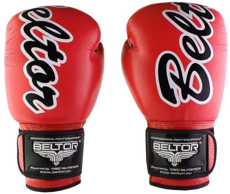 Beltor rękawice bokserskie VICTOUS czerwone