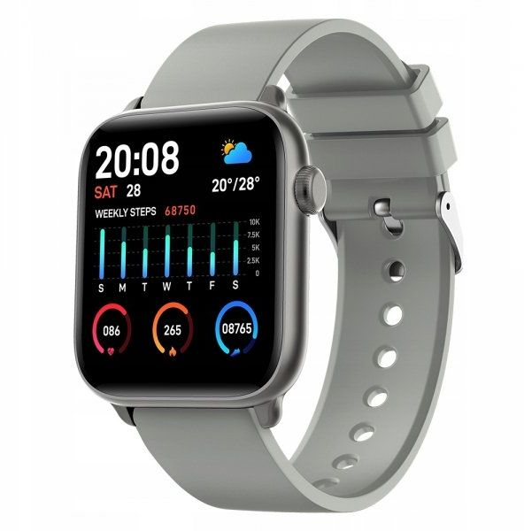 Smartwatch Farrot KW37 termometr ciśnienie szary
