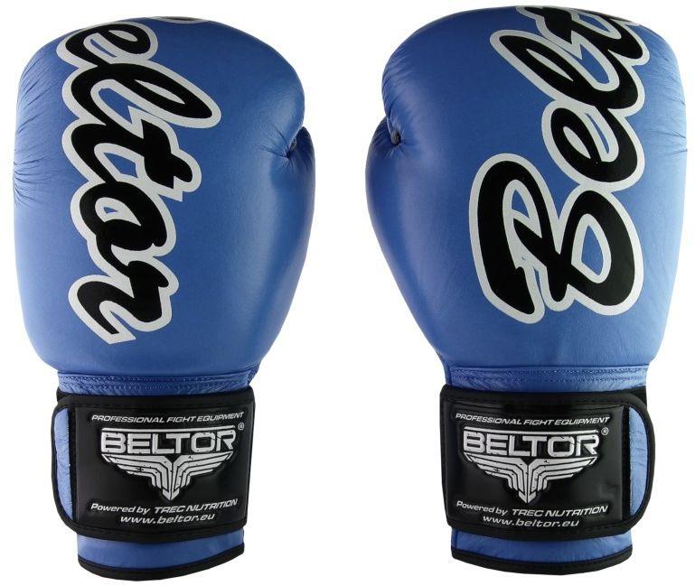 Beltor rękawice bokserskie VICTOUS niebieskie