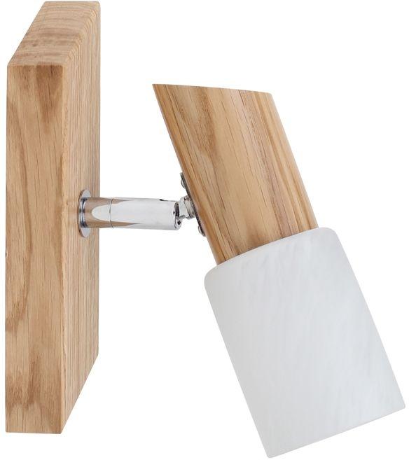 Spot Light 2222174 Birgit kinkiet lampa ścienna dąb olejowany klosz szkło alabaster 1xE14 40W 6cm