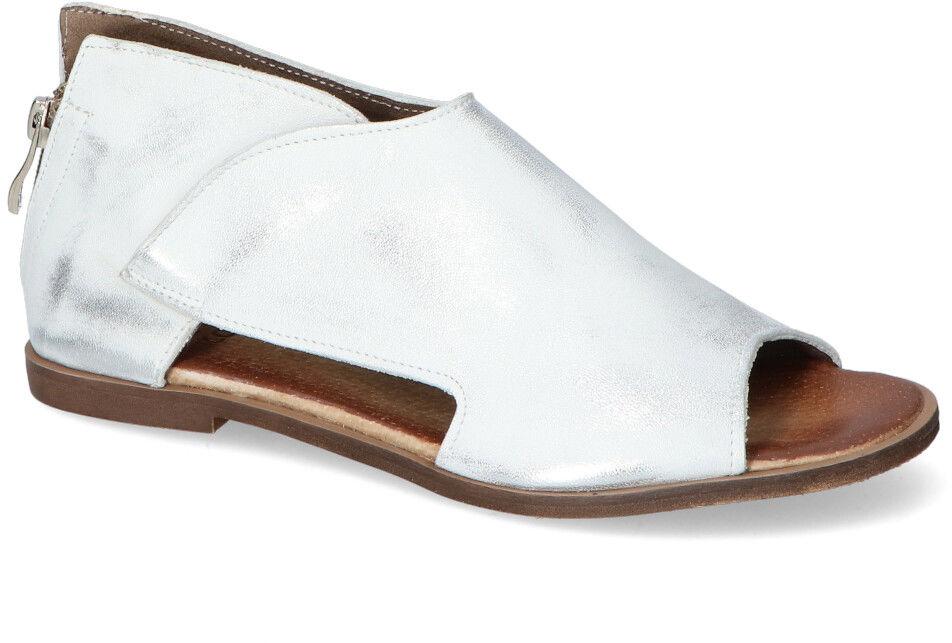 Stylowe Sandały Srebrne Przecierane Licowe Nicole 2622/005
