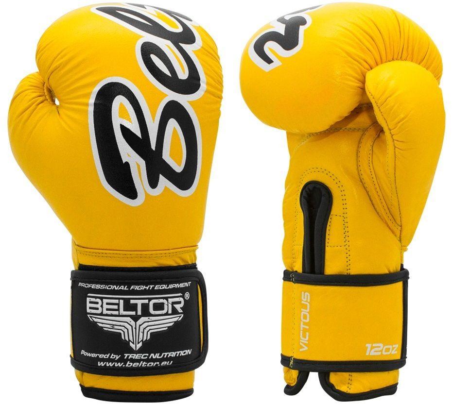Beltor rękawice bokserskie VICTOUS żołte