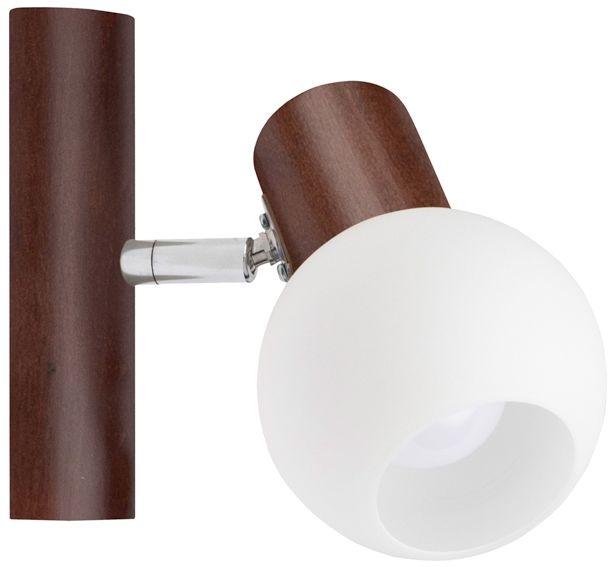 Spot Light 2231176 Karin kinkiet lampa ścienna orzech klosz szkło biały 1xE14 40W 9cm