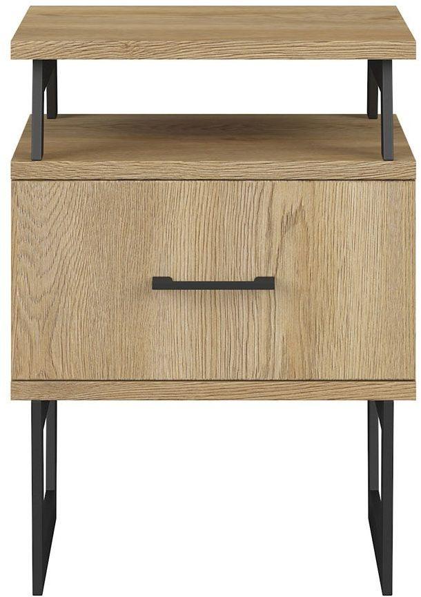 Drewniana szafka nocna z szufladą - Bahama 16X