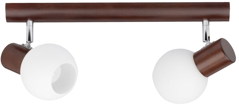 Spot Light 2231276 Karin spot orzech klosze szkło biały 2xE14 40 W 37cm
