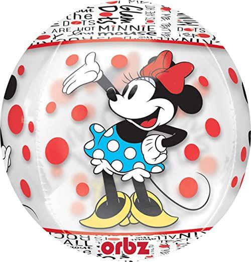 amscan 10118387 Disney Miki i przyjaciele okrągła myszka Minni przezroczysty balon dekoracja imprezowa-1 szt.