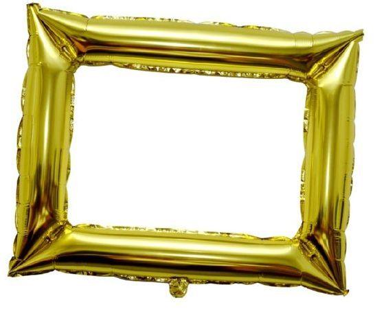 Balon ramka do zdjęć złota 1 sztuk BLF7805ZŁO