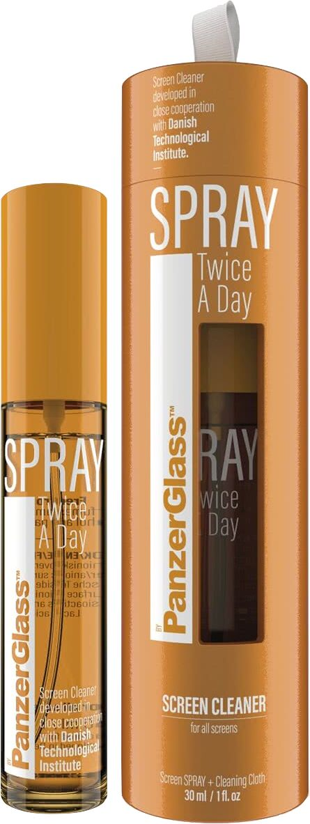 PanzerGlass Spray Twice A Day - antybakteryjny płyn czyszczący bez alkoholu 30ml - Gwarancja bezpieczeństwa. Proste raty. Bezpłatna wysyłka od 170 zł.
