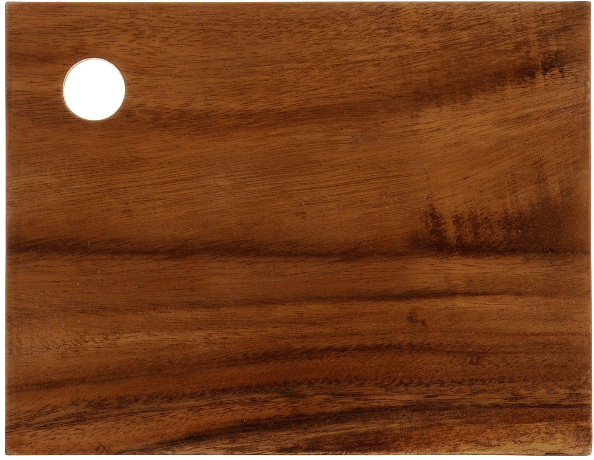 Premier Housewares Prostokątna deska do krojenia z naturalnego drewna akacjowego, z otworem w rogu, 24 x 31 x 2