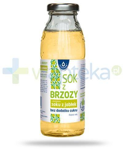 Oleofarm sok z brzozy z dodatkiem soku z jabłek bez dodatku cukru, płyn 300 ml