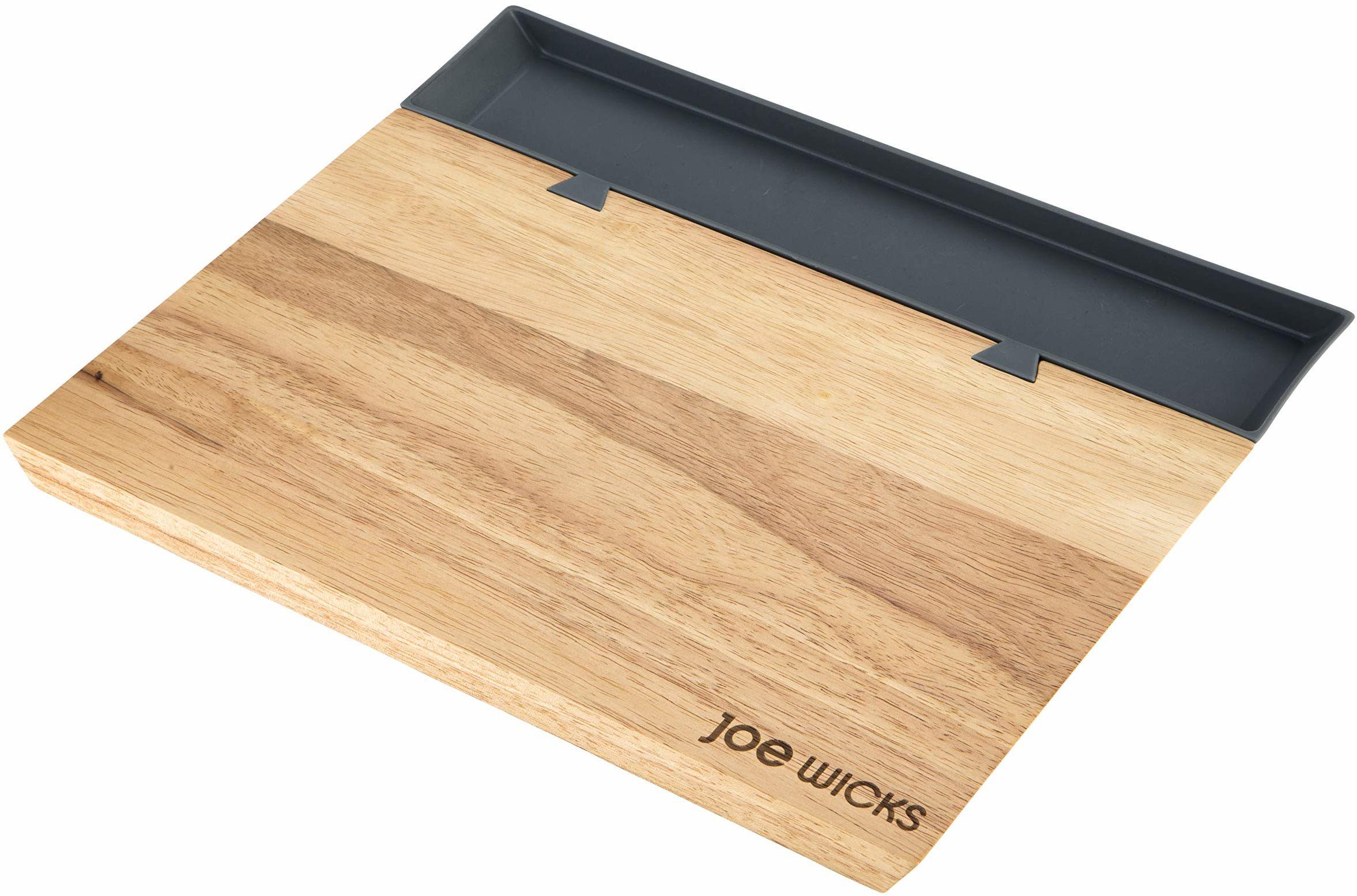 Joe Wicks - duża deska do krojenia - silikonowa taca do sortowania - Przygotowanie żywności - drewno - 35 x 21 x 2 cm