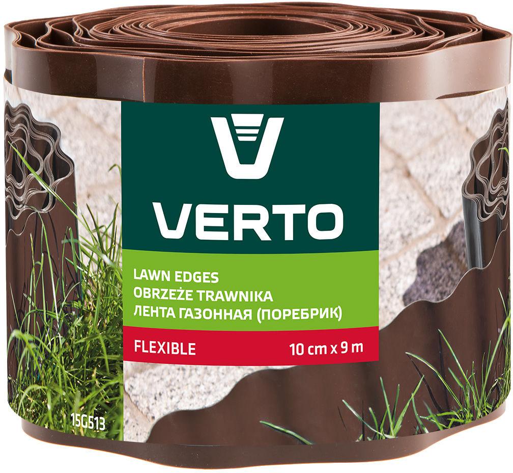Obrzeże do trawników 10 cm x 9 m, brązowe