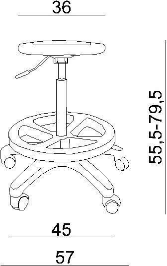 Krzesło specjalistyczne / taboret na kółkach Erizo Unique