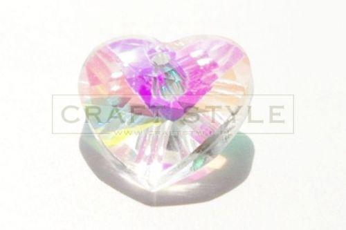 Swarovski serce crystal AB 14mm
