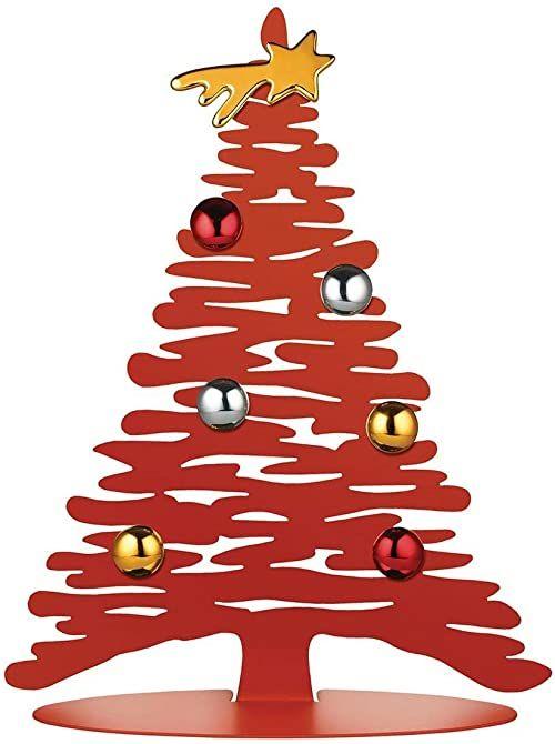 Alessi Ozdoba bożonarodzeniowa, stal kolorowa z żywicą epoksydową, porcelana, czerwona, jeden rozmiar