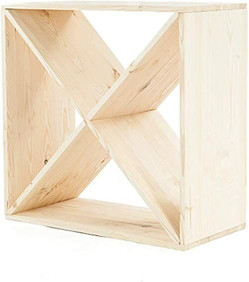axentia Regał na wino z drewna sosnowego, kolor drewna, 4 półki