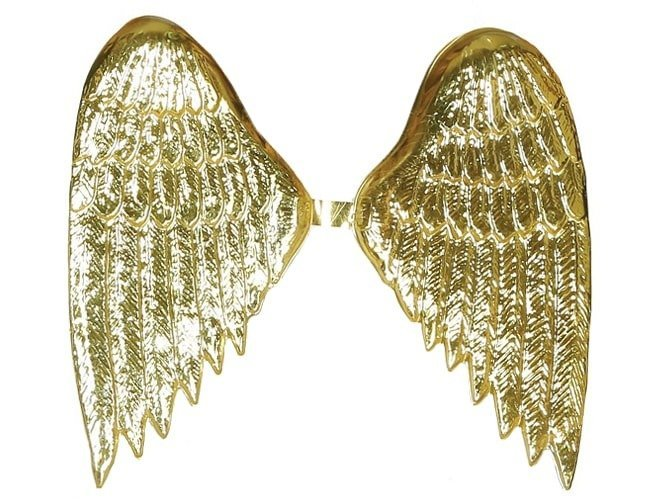 Skrzydła anioła złote - 40 x 35 cm - 1 szt.