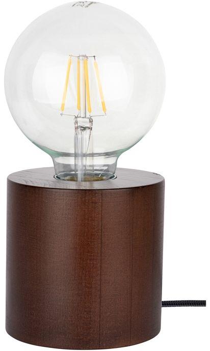 Spot Light 7071976 Trongo Round lampa stołowa walec drewno orzech/czarny 1xE27 25W cm