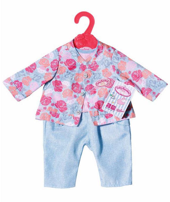 Baby Annabell - Ubranko 3-częściowe z kurteczką w kwiaty 701973