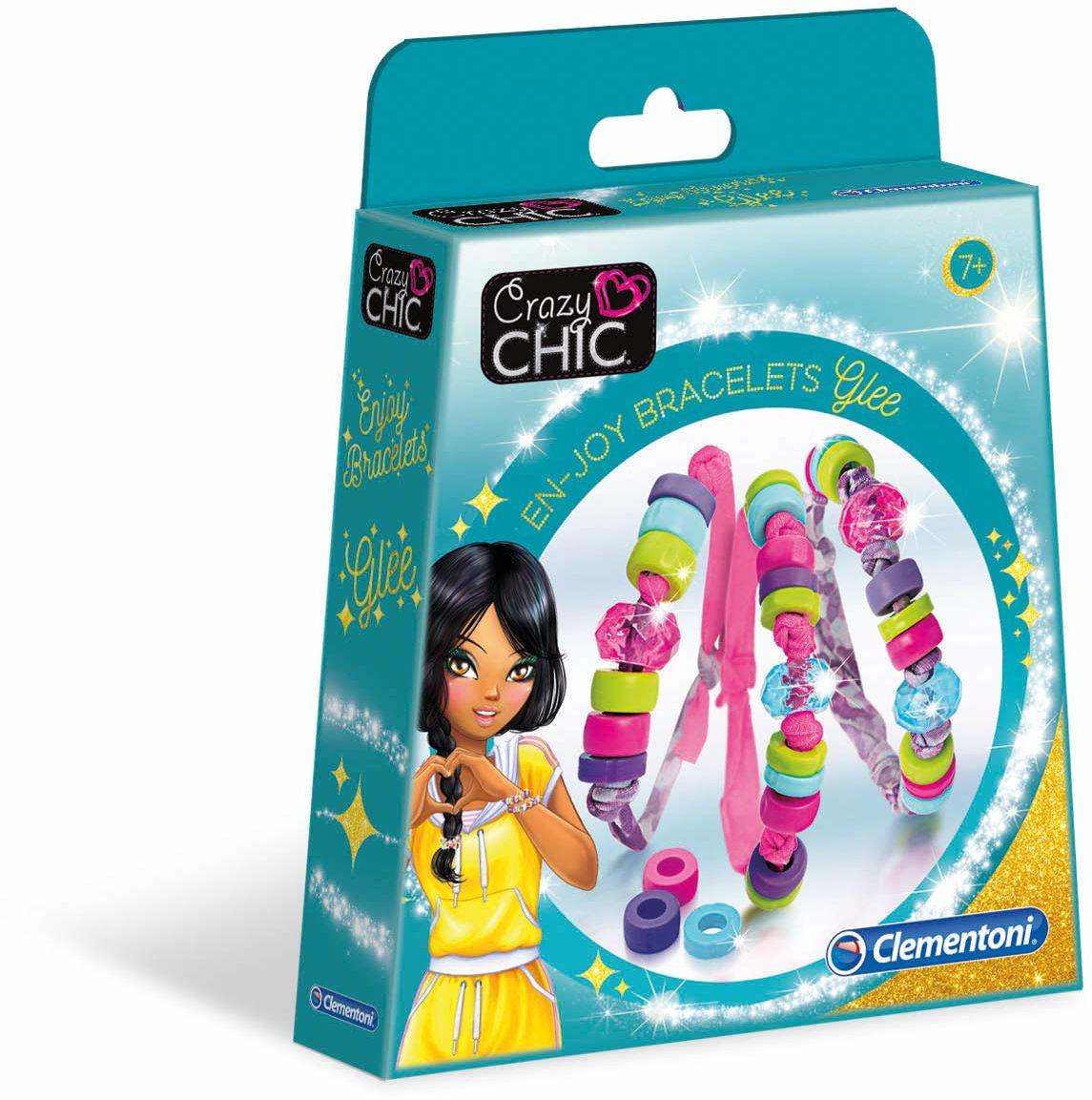Clementoni 18534 Clementoni-18534-Crazy Chic-Bransoletki Glee dla dzieci od 7 lat i starszych biżuteria dla dziewczynki, angielski, wielokolorowe