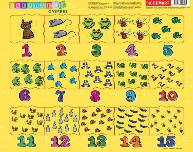 Puzzle ramkowe Cyferki dla dzieci - null