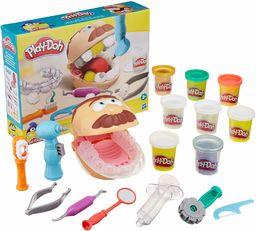 Play-Doh Dentysta, zabawka dla dzieci w wieku od 3 lat z nietoksyczną masą plastyczną w różnych metalicznych kolorach i w kolorze ubytków, z 10 narzędziami i 8 tubami po 56 g