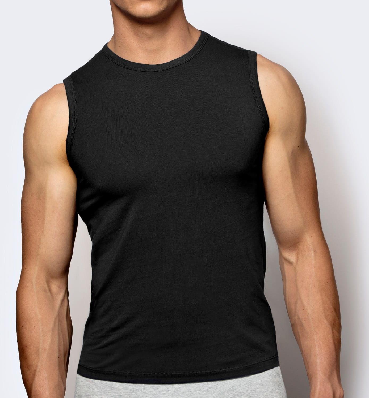 Koszulka męska Atlantic BMV-047 czarny