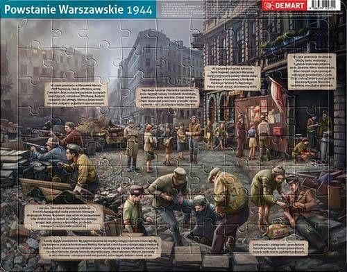 Puzzle ramkowe - Powstanie Warszawskie 1944