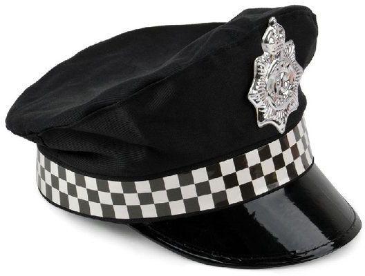 Czapka policjanta z odznaką czarna 1 sztuka SH2242CZA