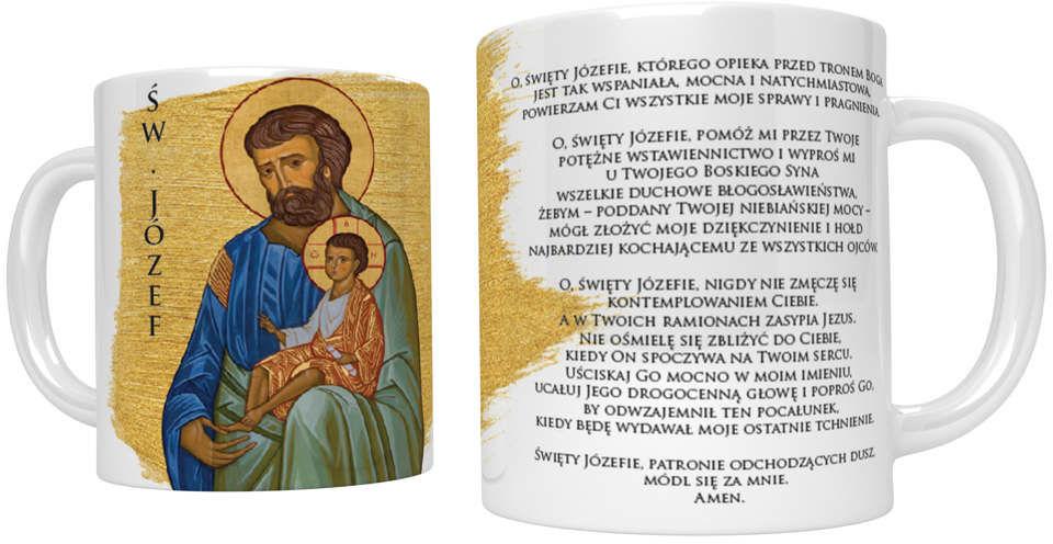 Kubek religijny ze świętym Józefem