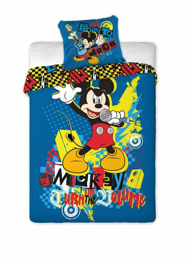 Pościel bawełniana 160x200 Myszka Miki Mickey Mouse Mikrofon 6895 Faro