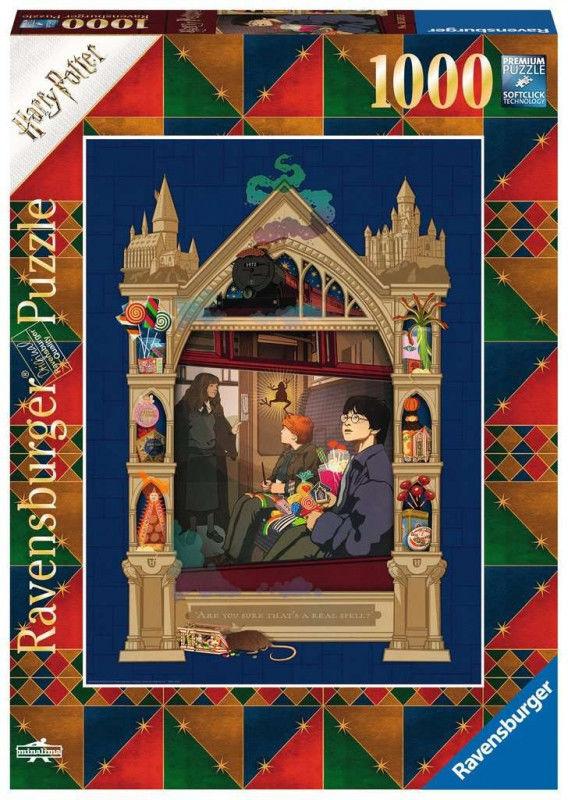 Puzzle 1000el Harry Potter Pociąg do Hogwartu 165155 RAVENSBURGER (RAP 165155)