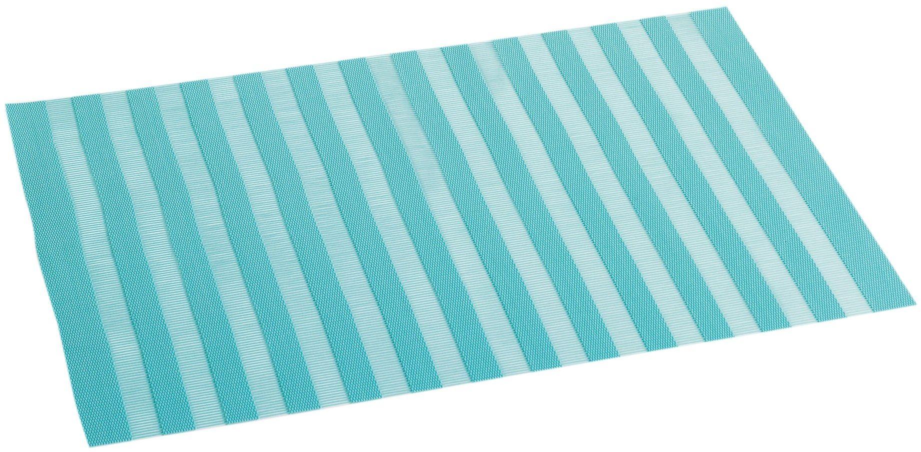 DECORLINE podkładka pod talerz 30 x 45 PCW ogród, niebieski (wodny), 30 x 45 cm