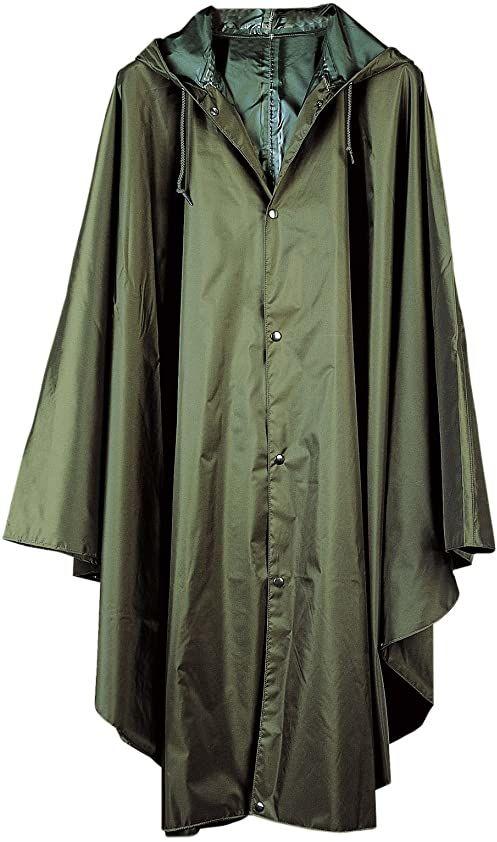 Baleno męskie ponczo przeciwdeszczowe Tornado - zielone (Khaki), L/XL