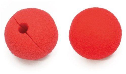 Nos klauna czerwony z gąbki 6cm 1 sztuka SR0513