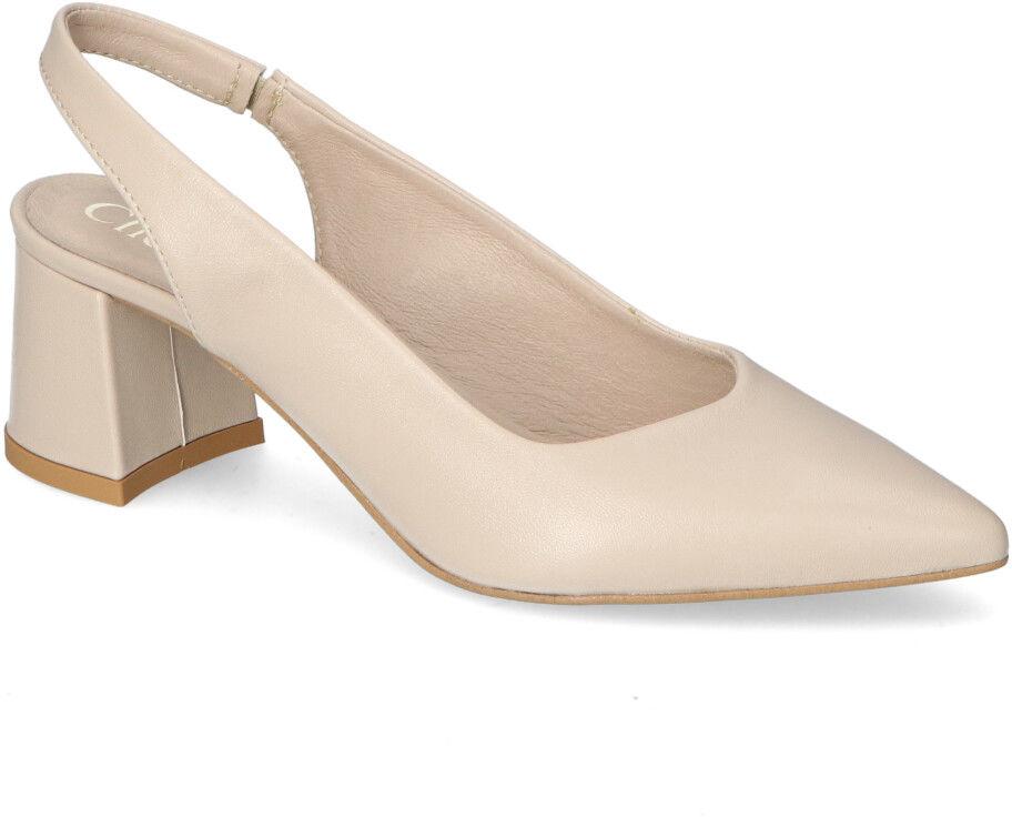 Eleganckie Beżowe Sandały CheBello Na Klocku CheBello 2627-308-000-PSK-S75 Beżowe