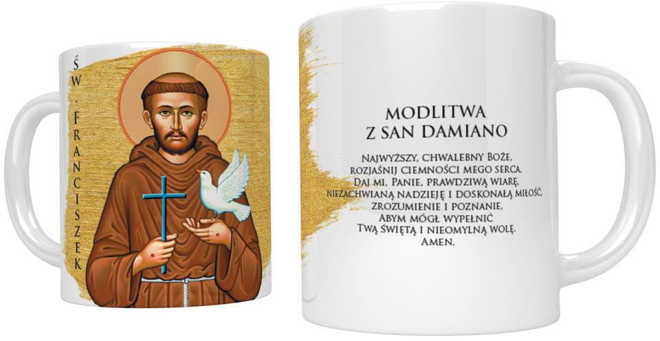 Kubek religijny ze świętym Franciszkiem