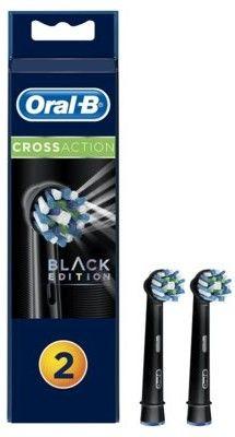 Oral B Cross Action EB 50 Black końcówki wymienne do szczoteczki do zębów 2 szt.
