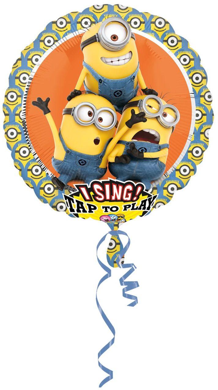 Amscan 3492801 balon foliowy Sing-A-Tune Ich einfach Unverbesserlich-Minions
