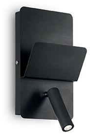 Kinkiet Read AP1 176550 Ideal Lux wielofunkcyjna oprawa w kolorze czarnym