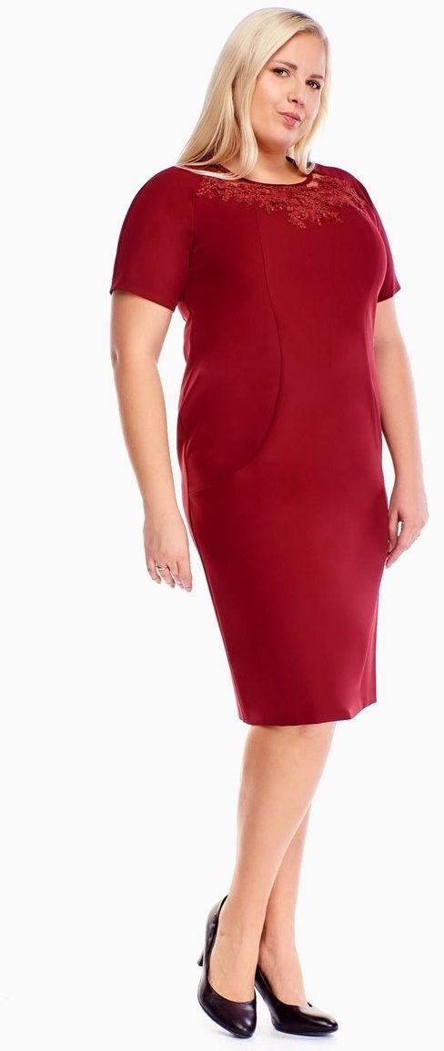 Sukienka FSU1014 BORDOWY