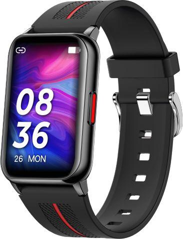 Smartwatch Farrot H76 ultra cienki, puls ciśnienie, Czarny