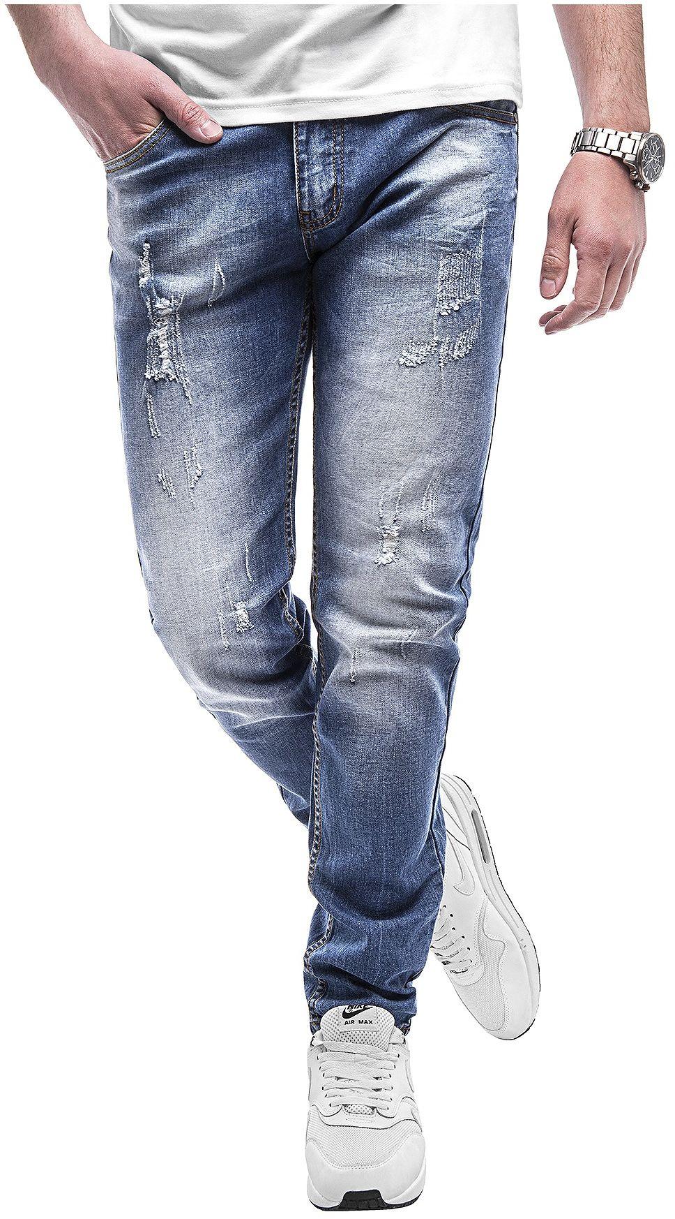 Spodnie jeansowe męskie - niebieskie 2067