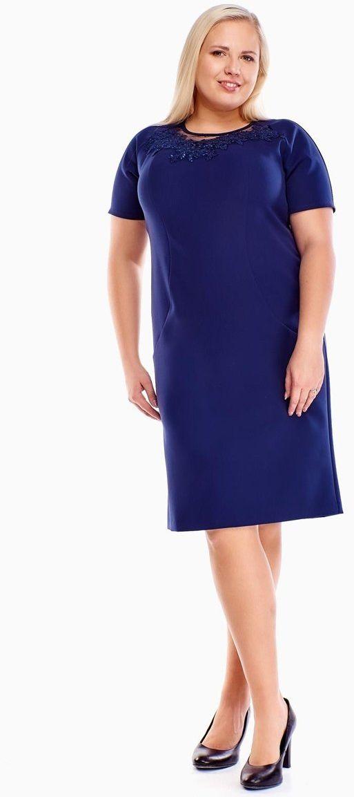 Sukienki Sukienka Suknie FSU1014 GRANATOWY