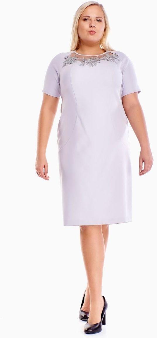 Sukienka FSU1014 SZARY JASNY