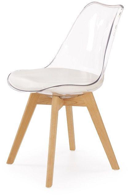 Krzesło WINDOW II przeźroczysty-buk