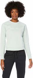 Under Armour damska koszulka z nadrukiem polarowy skrypt załoga rozgrzewka Atlas Green Medium Heather/Onyx White M