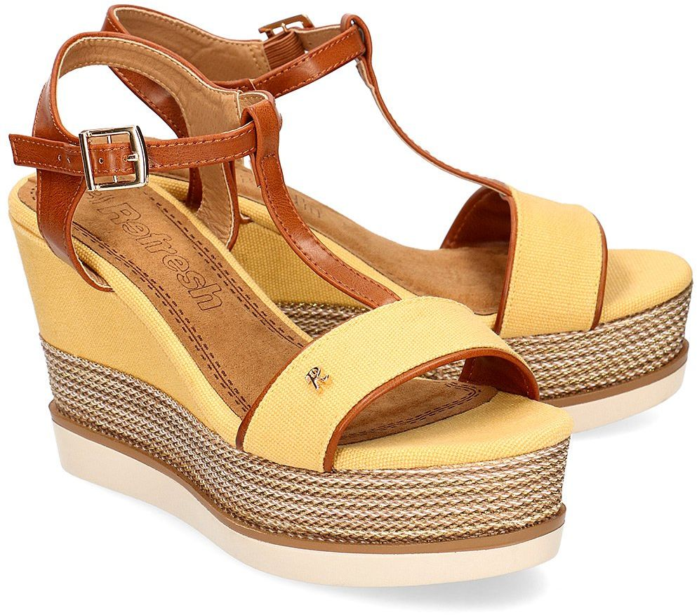 Refresh - Sandały Damskie - 69580 YELLOW - Żółty