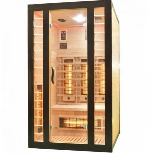 FRESH-CZARNA Sauna na podczerwień 2 osobowa 120x105 cm J12120