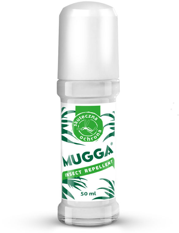 Środek na komary Mugga Roll on. DEET na komary 20%.Preparat na kleszcze.